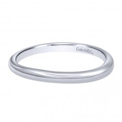 Gabriel 14 Karat Contemporary Wedding Band WB10950W4JJJ