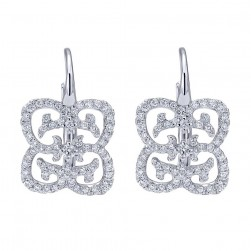 Gabriel Fashion 14 Karat Lace Leverback Earrings EG12294W45JJ
