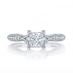 2645PR512 Platinum Tacori Classic Crescent Engagement Ring