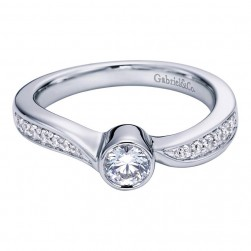 Gabriel 14 Karat Contemporary Engagement Ring ER96056W44JJ
