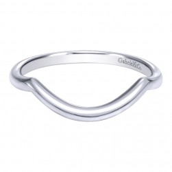 Gabriel 14 Karat Contemporary Wedding Band WB10071W4JJJ