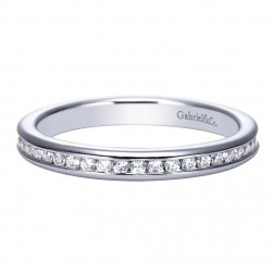 Gabriel 14 Karat Contemporary Wedding Band WB8132W44JJ