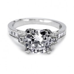 Tacori Platinum Simply Tacori Solitaire Engagement Ring 2580RD8
