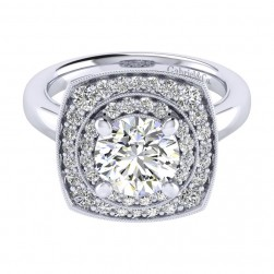 Gabriel 14 Karat Perfect Match Engagement Ring ER009C8AFW44JJ