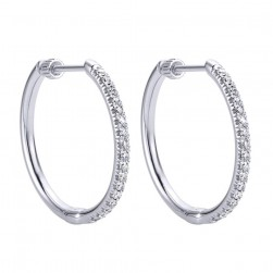 Gabriel Fashion 14 Karat Hoops Classic Earrings EG11016W44JJ