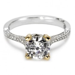 Tacori Platinum Simply Tacori Solitaire Engagement Ring 2561PKRD