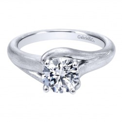 Gabriel 14 Karat Contemporary Engagement Ring ER10429W4JJJ