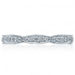 HT2604B Platinum Tacori RoyalT Diamond Wedding Ring