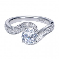 Gabriel 14 Karat Contemporary Engagement Ring ER7251W44JJ