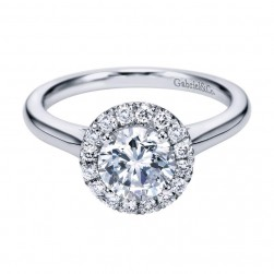 Gabriel 14 Karat Contemporary Engagement Ring ER7265W44JJ