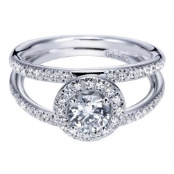 Gabriel 14 Karat Contemporary Engagement Ring ER94219W44JJ