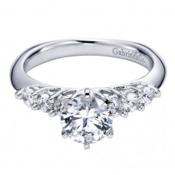 Gabriel 14 Karat Contemporary Engagement Ring ER95581W44JJ