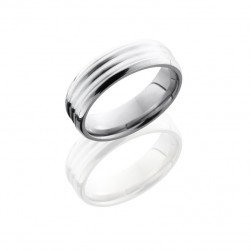 Lashbrook 6BDDD14-SS SATIN-POLISH Titanium Wedding Ring or Band