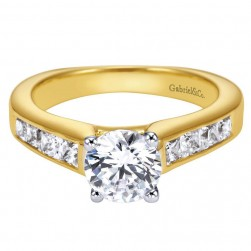 Gabriel 14 Karat Contemporary Engagement Ring ER3964M44JJ
