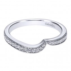 Gabriel 14 Karat Contemporary Wedding Band WB10313W44JJ