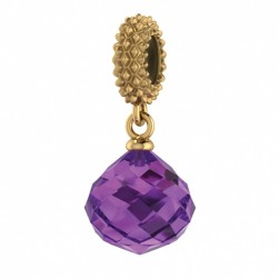 JLo Collection Endless Jewelry Amethyst Mysterious Drop 18k Gold Plated Charm 3801-1