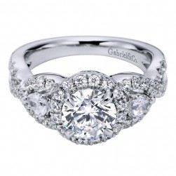 Gabriel 14 Karat Contemporary Engagement Ring ER6026W44JJ
