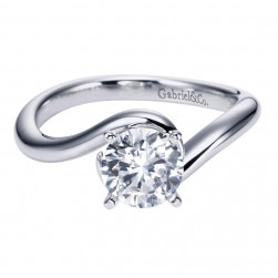 Gabriel 14 Karat Contemporary Engagement Ring ER6678W4JJJ
