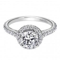 Gabriel 14 Karat Contemporary Engagement Ring ER6970W44JJ