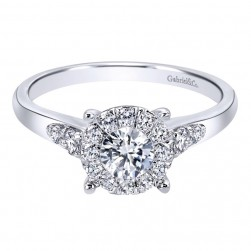 Gabriel 14 Karat Contemporary Engagement Ring ER910940W44JJ