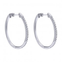 Gabriel Fashion 14 Karat Hoops Hoop Earrings EG10235W45JJ