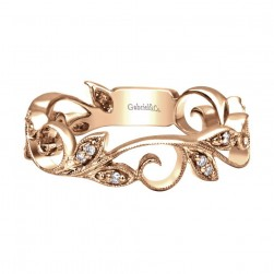 Gabriel Fashion 14 Karat Stackable Stackable Ladies' Ring LR4593K45JJ