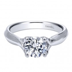 Gabriel 14 Karat Contemporary Engagement Ring ER10182W4JJJ
