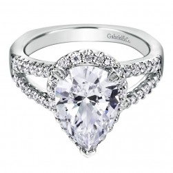 Gabriel 14 Karat Contemporary Engagement Ring ER6571W44JJ