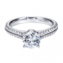 Gabriel 14 Karat Contemporary Engagement Ring ER6657W44JJ