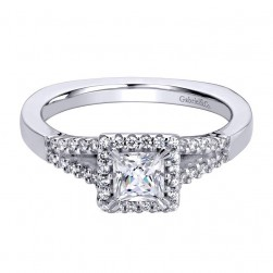 Gabriel 14 Karat Contemporary Engagement Ring ER9474W44JJ