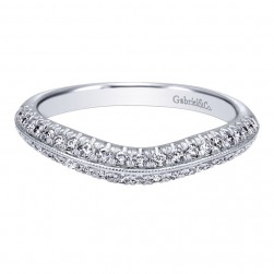 Gabriel 14 Karat Contemporary Wedding Band WB10151W44JJ