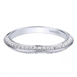 Gabriel 14 Karat Contemporary Wedding Band WB9306W44JJ