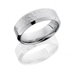 Lashbrook 14KW8HB HAMMER-POLISH Precious Metal Wedding Ring or Band