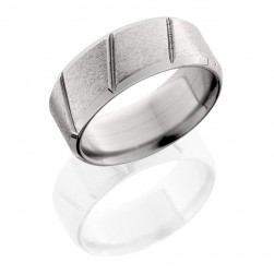 Lashbrook 9BMDL STONE-POLISH Titanium Wedding Ring or Band