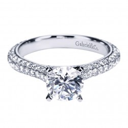 Gabriel 14 Karat Contemporary Engagement Ring ER6649W44JJ