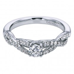 Gabriel 14 Karat Contemporary Engagement Ring ER96105W44JJ