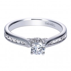 Gabriel 14 Karat Contemporary Engagement Ring ER98721W44JJ