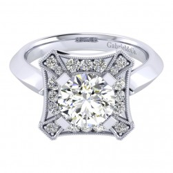 Gabriel 14 Karat Perfect Match Engagement Ring ER001C8AEW44JJ