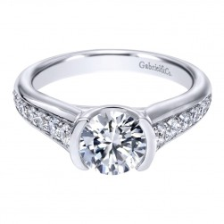 Gabriel 14 Karat Contemporary Engagement Ring ER10428W44JJ