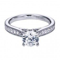 Gabriel 14 Karat Contemporary Engagement Ring ER6646W44JJ