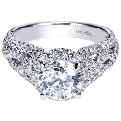 Gabriel 14 Karat Contemporary Engagement Ring ER8935W44JJ
