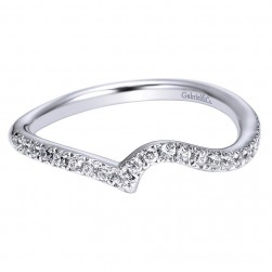 Gabriel 14 Karat Contemporary Wedding Band WB4224W44JJ