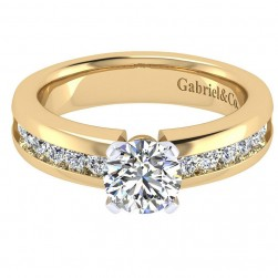 Gabriel 14 Karat Contemporary Engagement Ring ER3986M44JJ