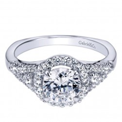 Gabriel 14 Karat Contemporary Engagement Ring ER4179W44JJ