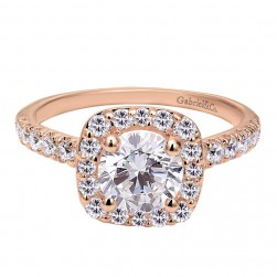 Gabriel 14 Karat Contemporary Engagement Ring ER6872K44JJ