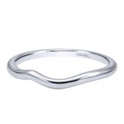 Gabriel 14 Karat Contemporary Wedding Band WB10939W4JJJ