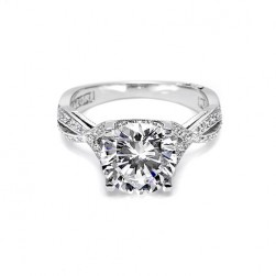 Tacori Platinum Crescent Silhouette Engagement Ring 2565RD5