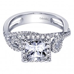 Gabriel 14 Karat Contemporary Engagement Ring ER5712W44JJ