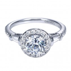 Gabriel 14 Karat Contemporary Engagement Ring ER7501W44JJ