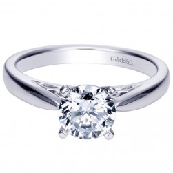 Gabriel 14 Karat Contemporary Engagement Ring ER8293W4JJJ